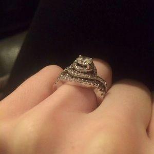 64256eb26 Kay Jewelers Jewelry | Stunning Diamond Ring And Band | Poshmark